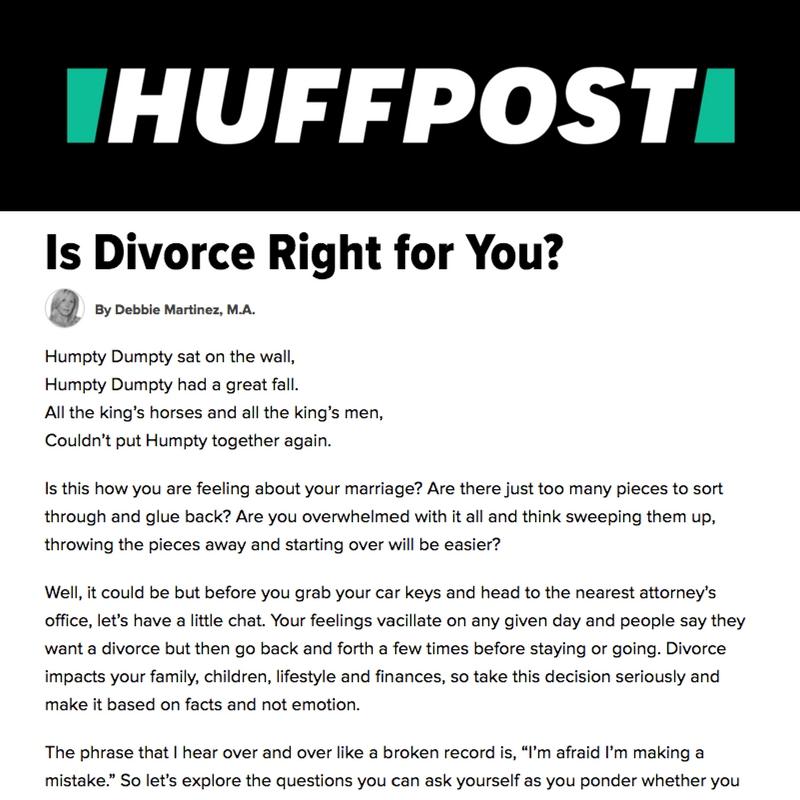 Debbie Martinez, Debbie Does Divorce, Divorce Coach, Divorce advice, Transformation thru Divorce, dating after divorce